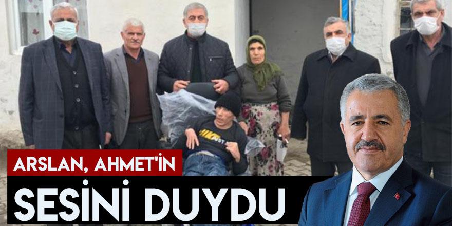 Arslan Ahmet'in Sesini Duydu