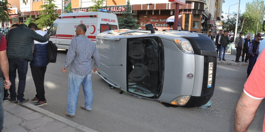 Kars'ta trafik kazası: 1 yaralı