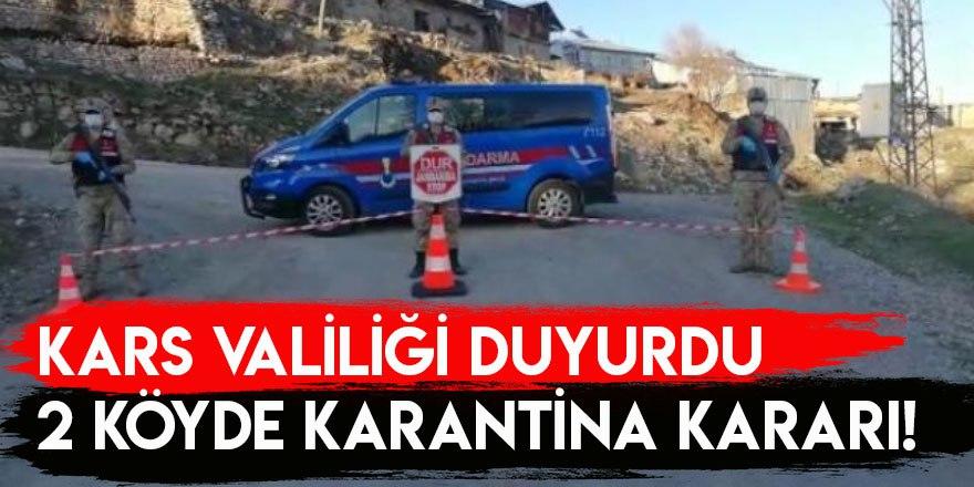 Kars Valiliği Duyurdu: 2 Köyde Karantina Kararı!
