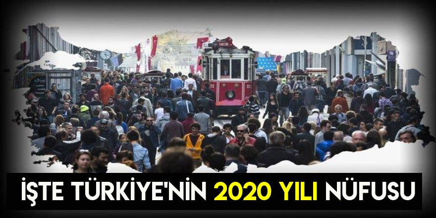 İşte Türkiye'nin 2020 Yılı Nüfusu