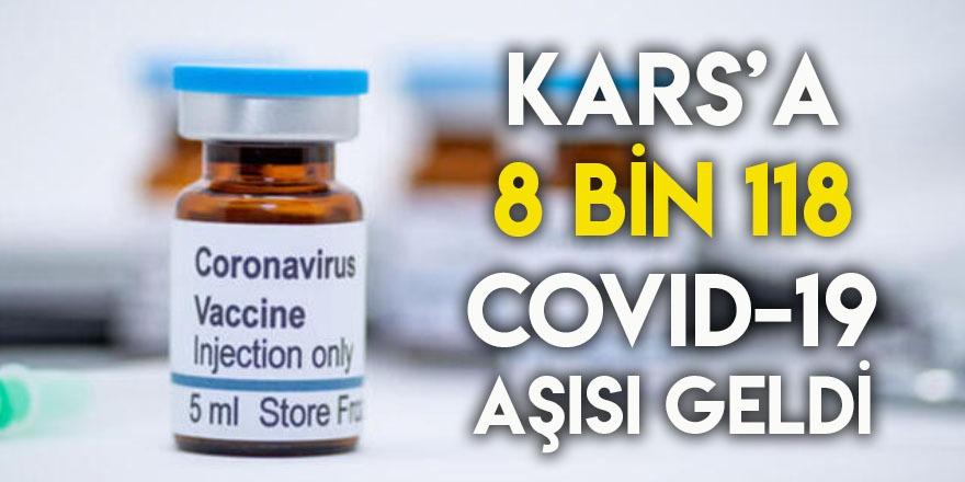 Kars'a 8 Bin 118 Covid-19 Aşısı Geldi