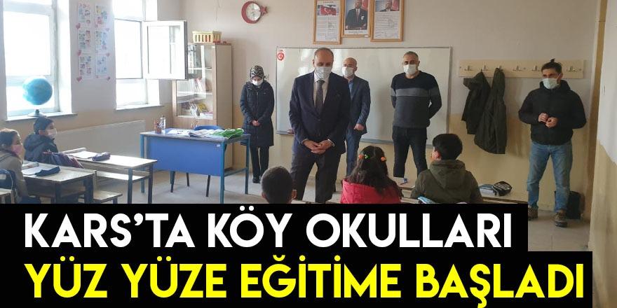 Kars'ta Köy Okulları Yüz Yüze Eğitime Başladı