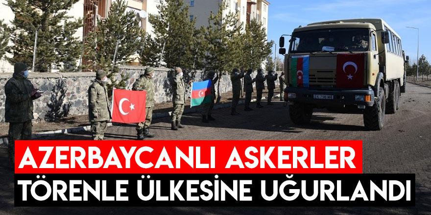 Azerbaycanlı Askerler Törenle Ülkesine Uğurlandı