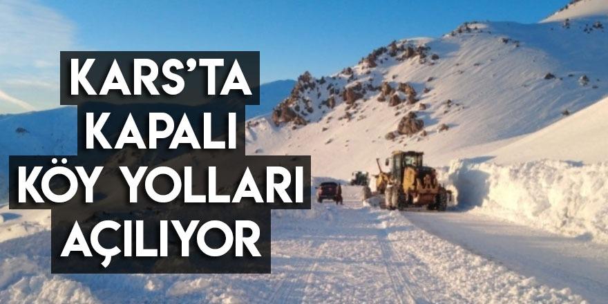 Kars'ta Kapalı Köy Yolları Açılıyor