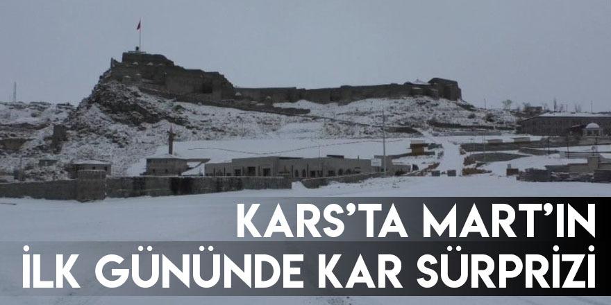 Kars'ta Mart'ın İlk Gününde Kar Sürprizi