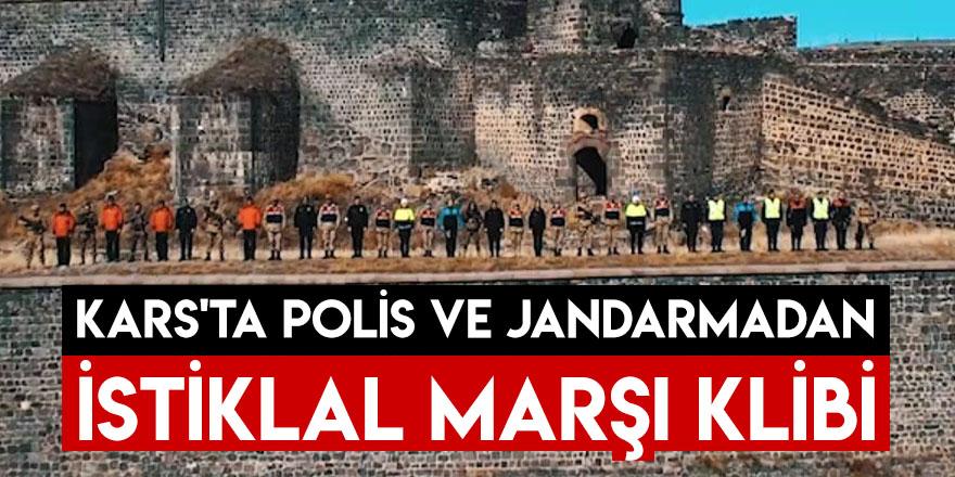 Kars'ta Polis ve Jandarmadan İstiklal Marşı Klibi