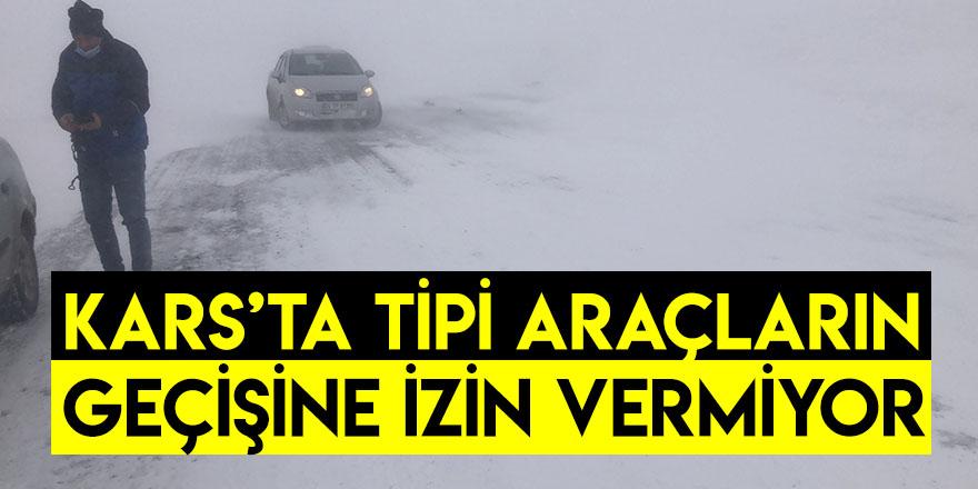 Kars'ta Tipi Araçların Geçişine İzin Vermiyor