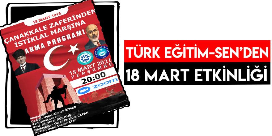 Türk Eğitim-Sen'den 18 Mart Etkinliği