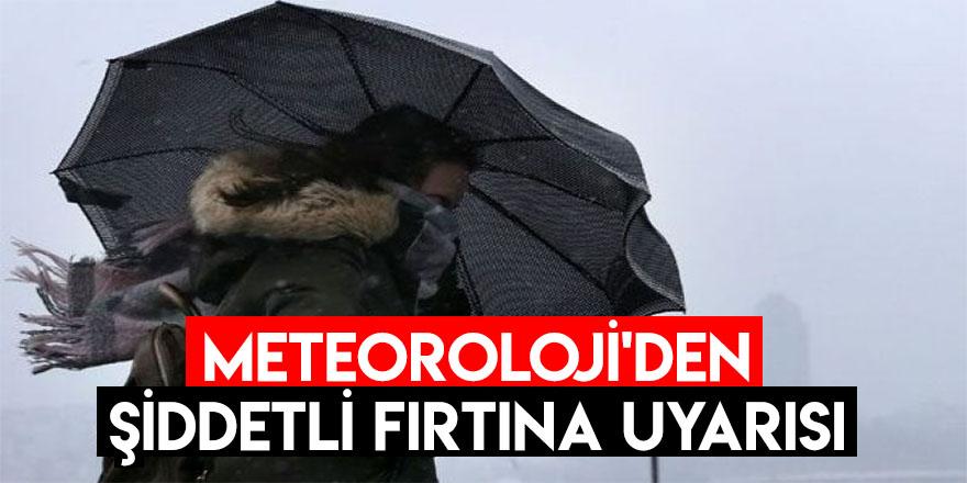 Meteoroloji'den Şiddetli Fırtına Uyarısı