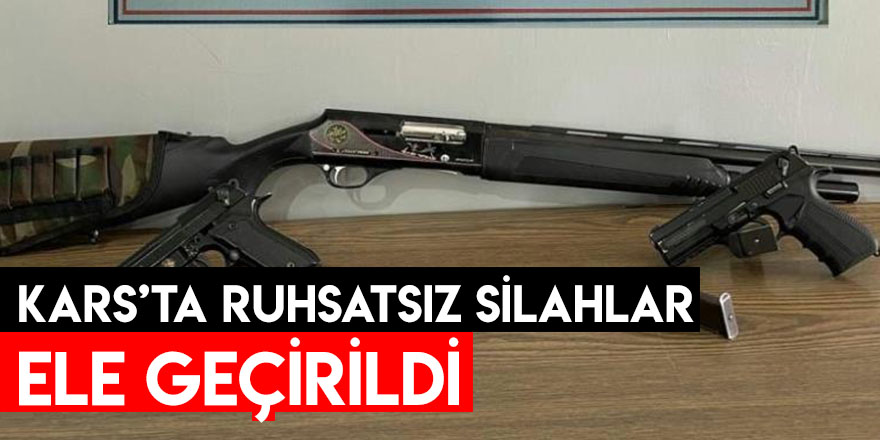 Kars'ta Ruhsatsız Silahlar Ele Geçirildi
