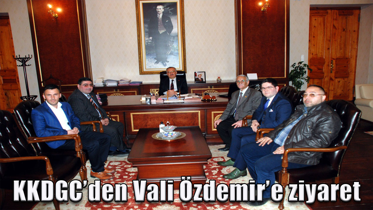 KKDGC'den Vali Özdemir'e ziyaret
