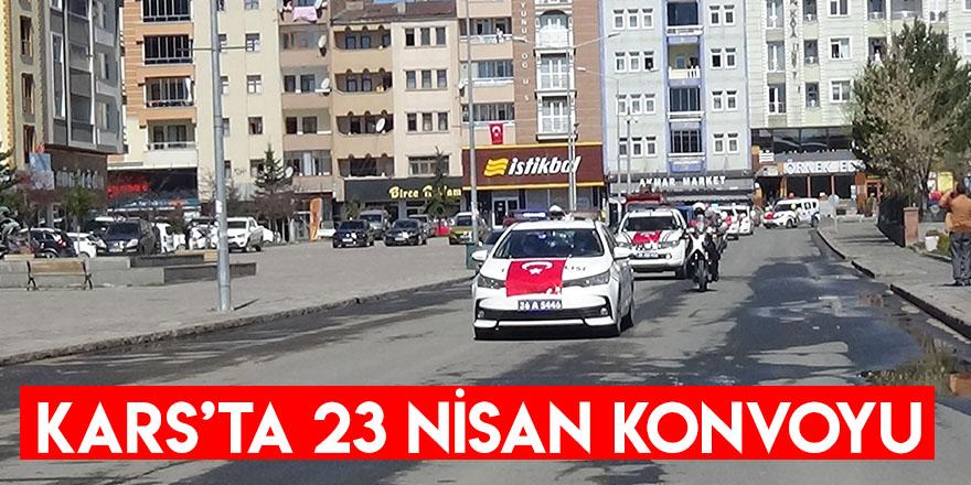 Kars'ta 23 Nisan Konvoyu
