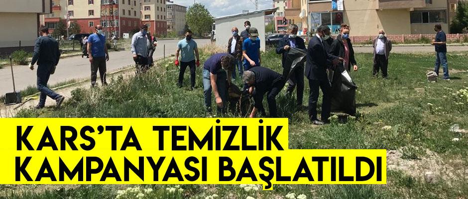 Kars'ta Temizlik Kampanya Başlatıldı