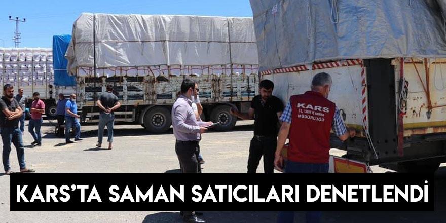 Kars'ta Saman Satıcıları Denetlendi