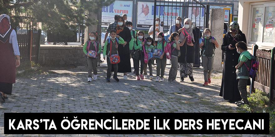 Kars'ta Öğrencilerde İlk Ders Heyecanı