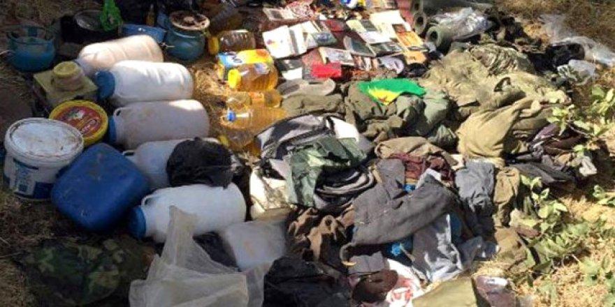 Kağızman'da teröristlere ait erzak ele geçirildi