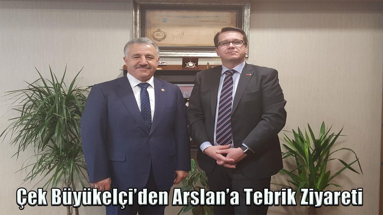 Çek Büyükelçi'den Arslan'a Tebrik Ziyareti