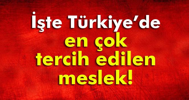 İşte Türkiye'de en çok tercih edilen meslek