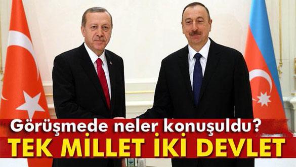 Erdoğan-Aliyev görüşmesinde neler konuşuldu?