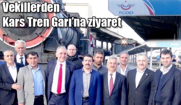 Vekillerden Kars Tren Garı´na ziyaret