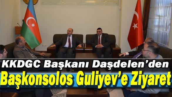 KKDGC Başkanı Daşdelen'den Başkonsolos Guliyev'e Ziyaret