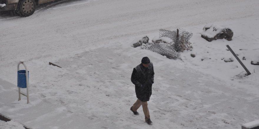 Karslılar güne karla başladı