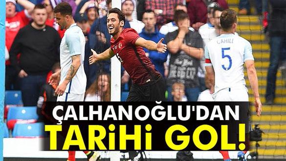 Hakan Çalhanoğlu´dan tarihi gol