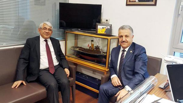 Başkan Karaçanta'dan Bakan Arslan'a Tebrik Mesajı
