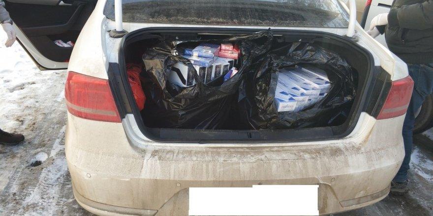 Kars'ta, 6 bin 40 paket kaçak sigara ele geçirildi