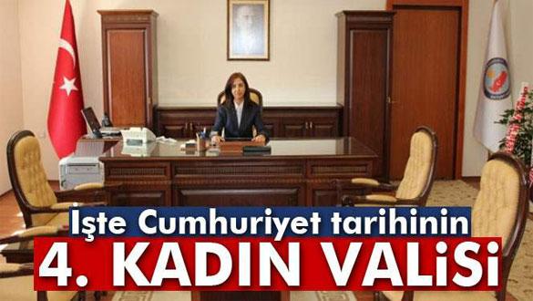 Cumhuriyet tarihinin 4. kadın valisi!