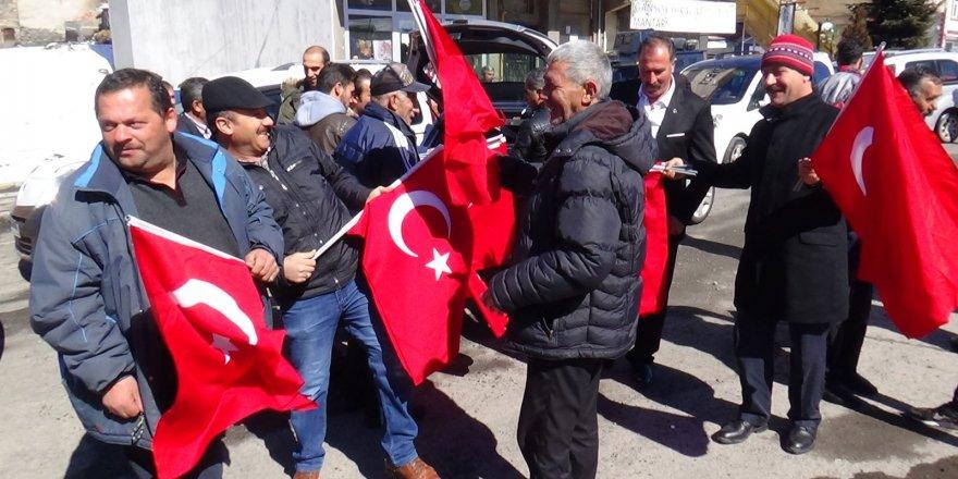 Kars'ta, Afrin'e destek konvoyu düzenlendi