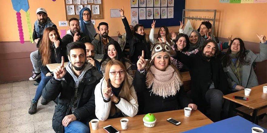 120 koca yürek, Kars'a trenle gelerek çocuklarla buluştu