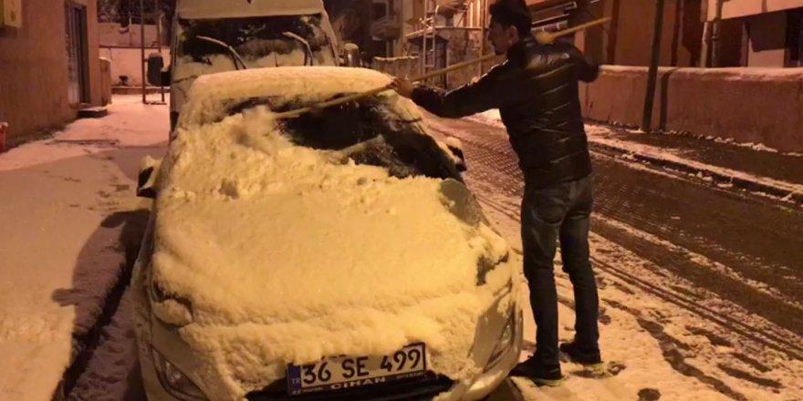 Kış Kars'ta geri geldi