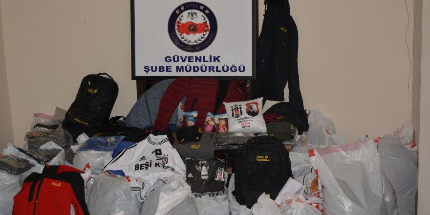 Kars'ta tescilli markaları izinsiz satan iş yerlerine operasyon düzenlendi