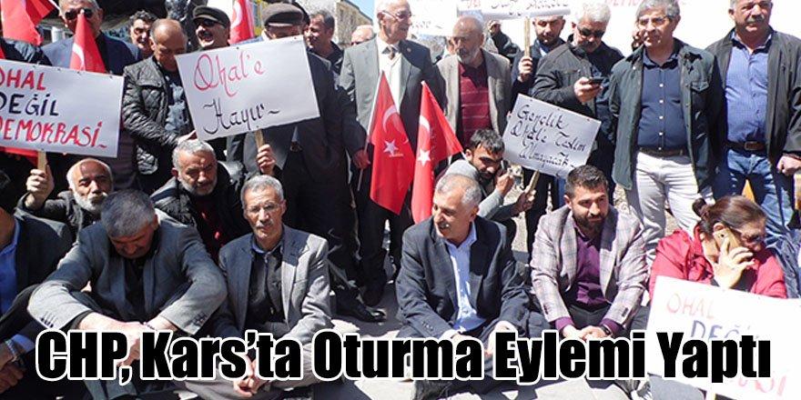 CHP, Kars'ta Oturma Eylemi Yaptı
