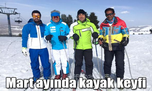 Mart ayında kayak keyfi