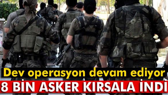 Diyarbakır'da 8 Bin Asker Kırsala Indi