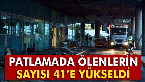 Patlamada ölenlerin sayısı 41'e yükseldi