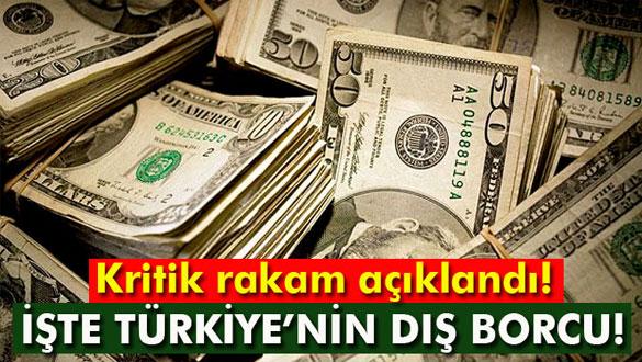 Türkiye´nin dış borcu 412 milyar dolar