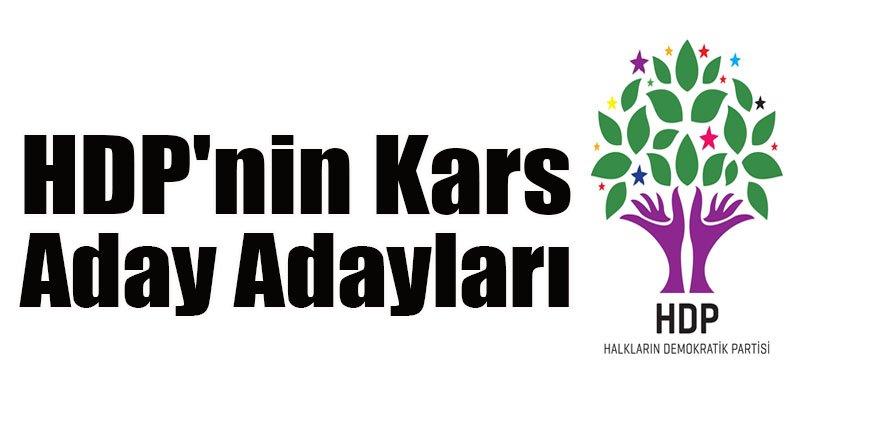 HDP'nin Kars Aday Adayları