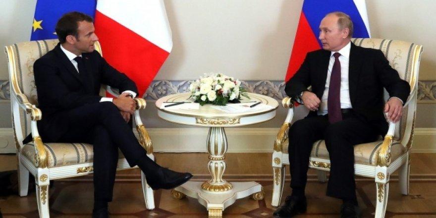 Putin ve Macron'dan ortak basın toplantısı