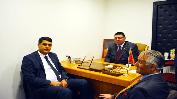 Süleymanlı'dan KKDGC Başkanı Daşdelen'e Veda Ziyareti
