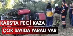 Kars'ta Feci Kaza Çok Sayıda Yaralı Var