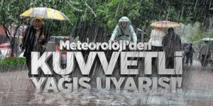 Kars için kuvvetli yağış uyarısı Yapıldı