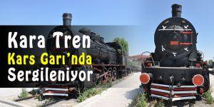 Kara Tren Kars Garı'nda sergileniyor