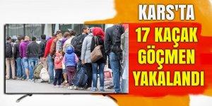 Kars'ta 17 kaçak göçmen yakalandı