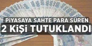 Kars'ta piyasaya sahte para süren 2 kişi tutuklandı