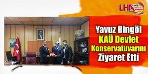 Yavuz Bingöl KAÜ Devlet Konservatuvarını ziyaret etti