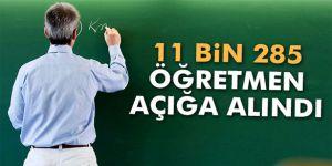 11 bin 285 öğretmen açığa alındı