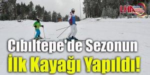 Cıbıltepe'de sezonun ilk kayağı